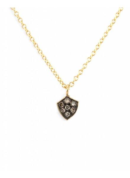 satomi kawakita jewelry diamond shield charm