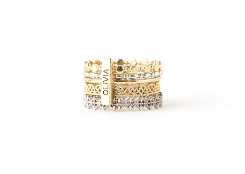 grace lee designs hex beaded ring