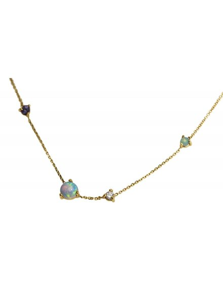 wwake opal linear chain necklace
