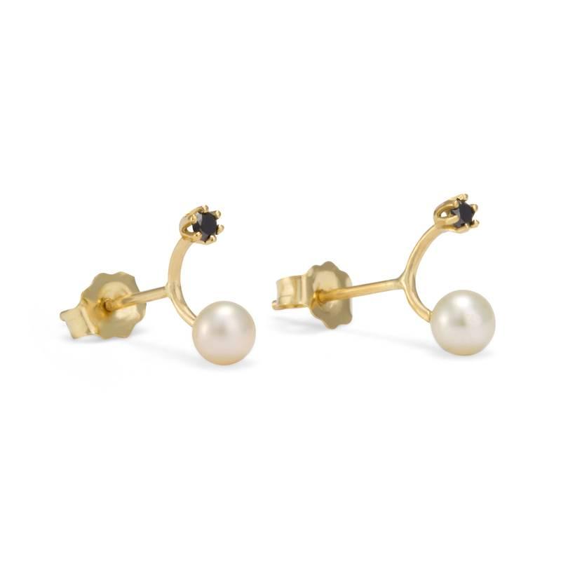 satomi kawakita jewelry pearl and black diamond studs