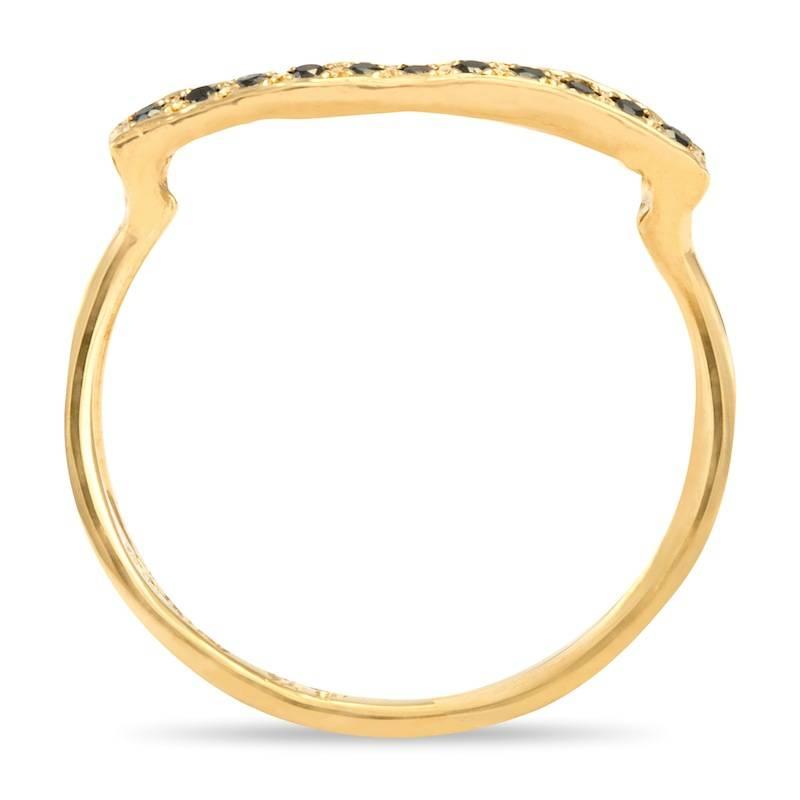 satomi kawakita jewelry black diamond bridge ring