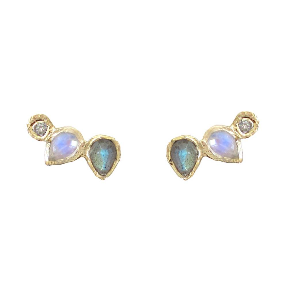 misa jewelry  water lily earring - single