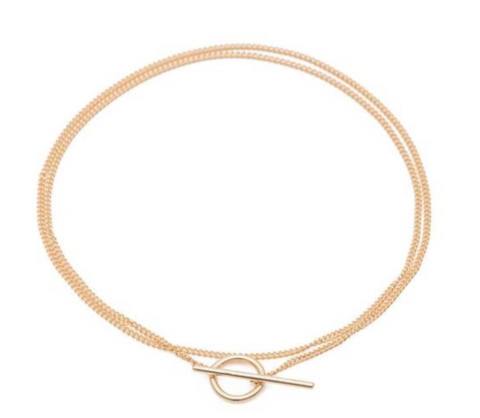 ariel gordon toggle wrap chain bracelet/necklace