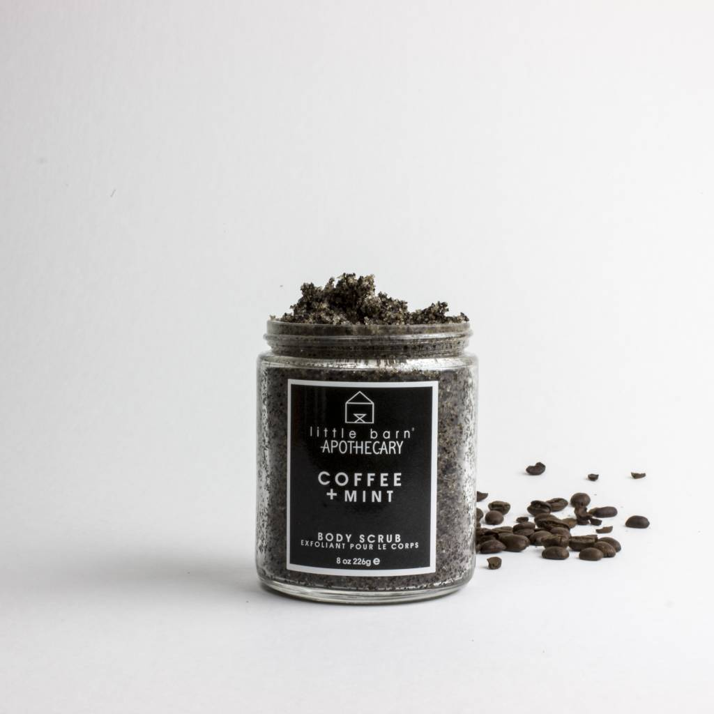 little barn apothecary body scrub coffee + mint
