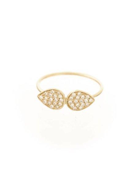 ariel gordon pavè diamond twin teardrop ring