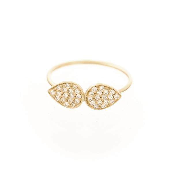 ariel gordon pavè diamond twin teardrop ring