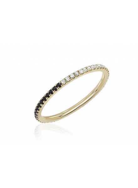 ef collection two tone eternity stack ring
