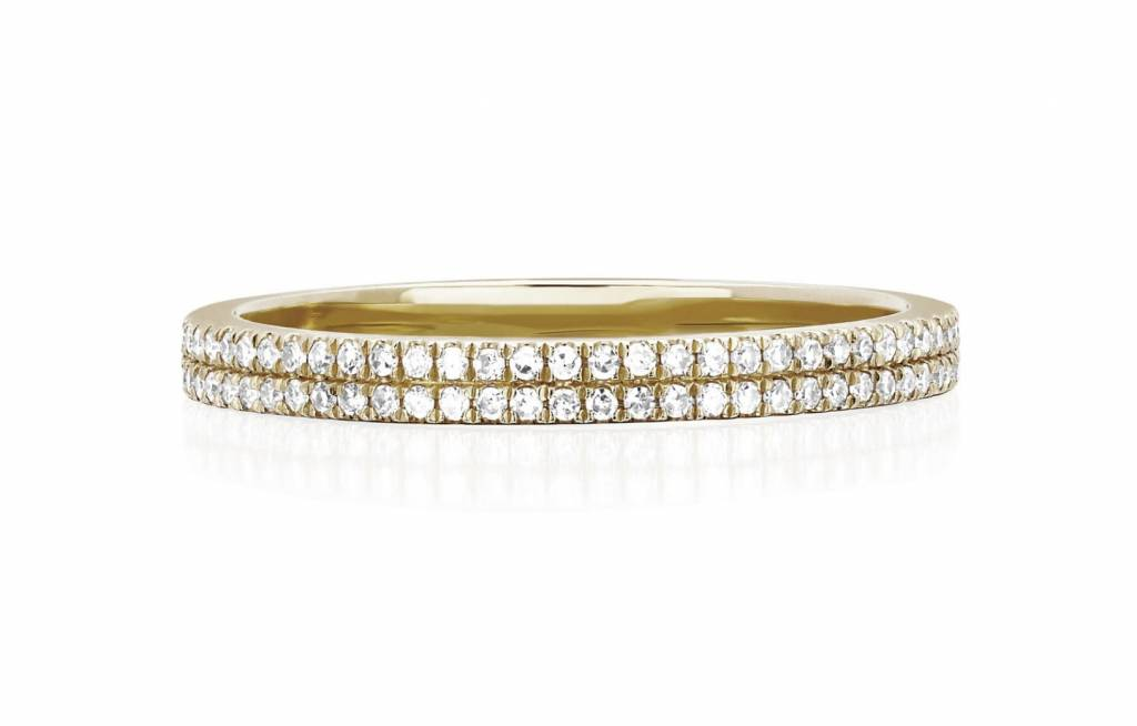 ef collection double diamond eternity stack ring