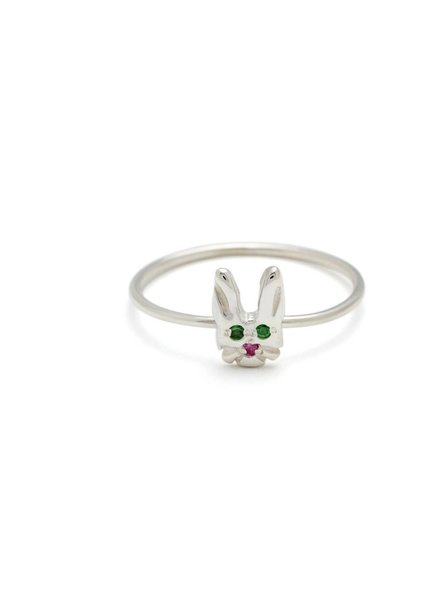 elisa solomon bunny face ring