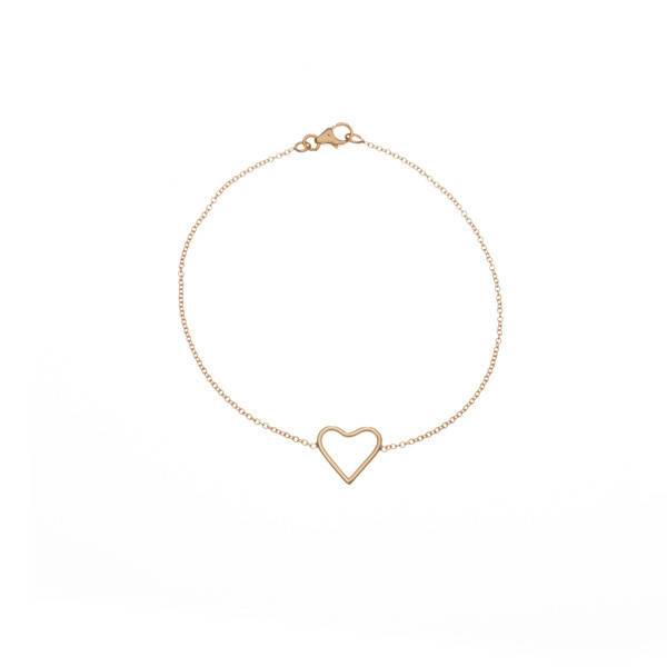 ariel gordon delicate heart shaped silhouette bracelet
