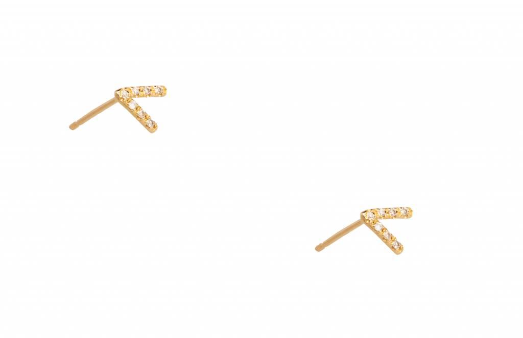 wwake micropavè diamond triangle earrings
