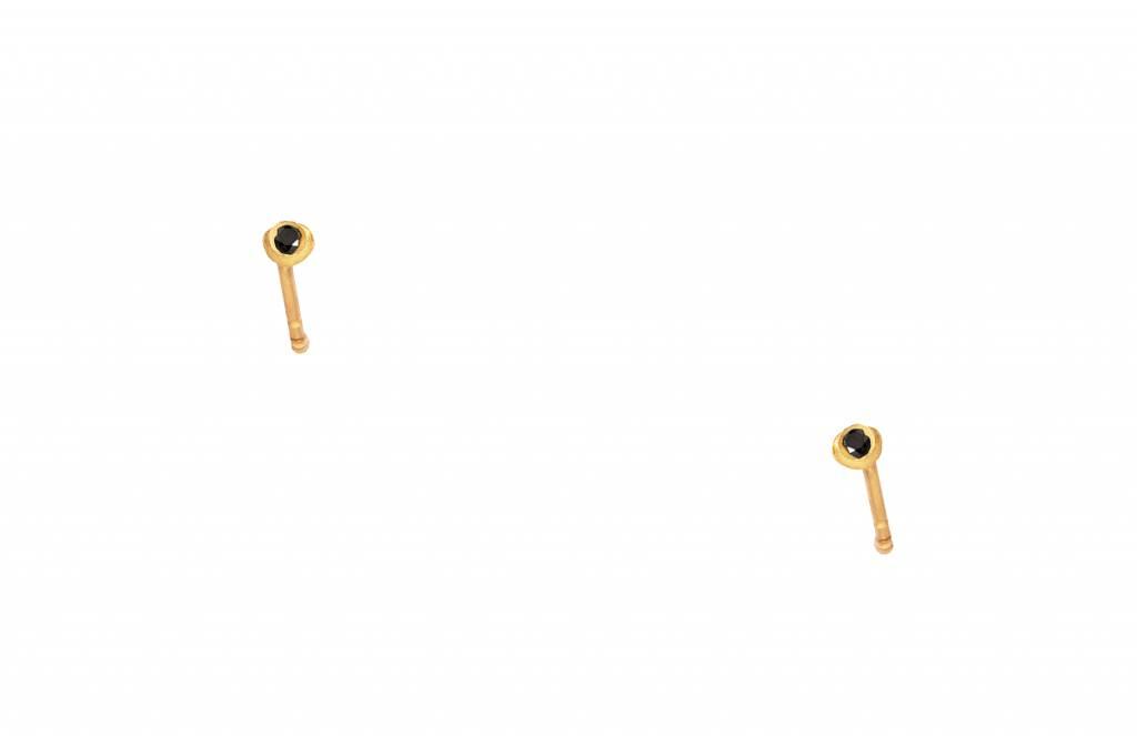 wwake nugget diamond earrings