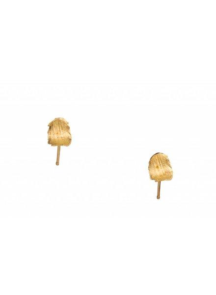 wwake short smeared flake earrings