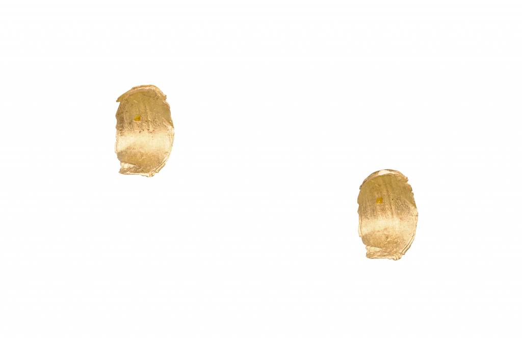 wwake short smeared flake earrings