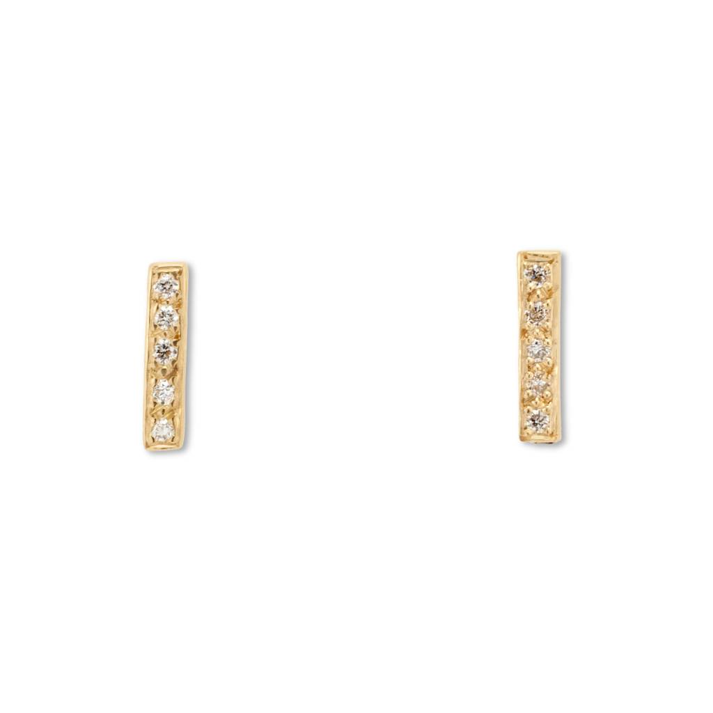 satomi kawakita jewelry pavè diamond bar earrings