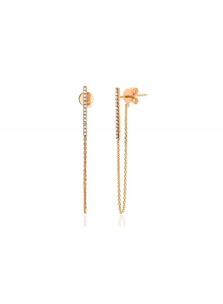ef collection diamond bar drop chain stud