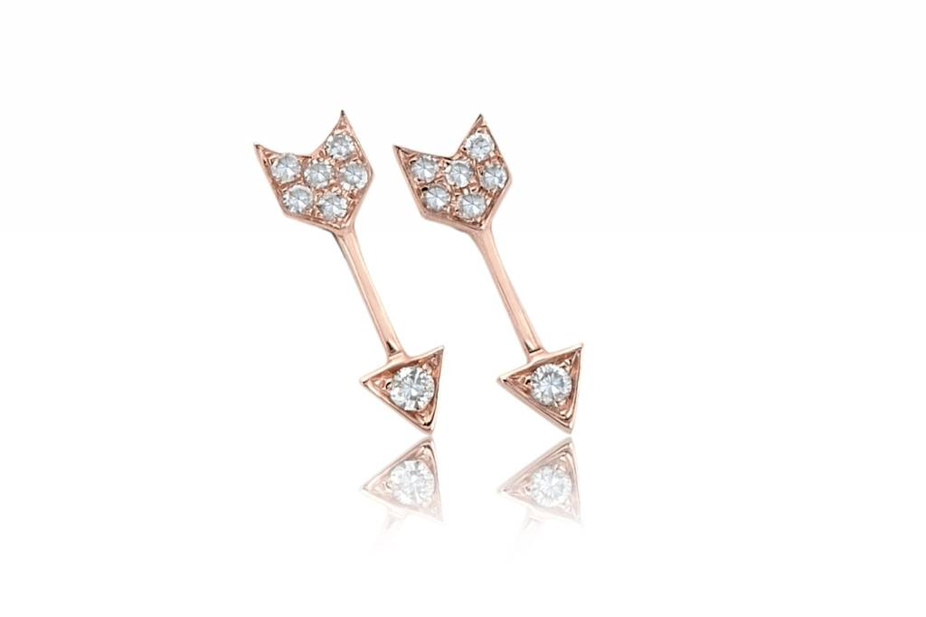 ef collection diamond mini arrow stud