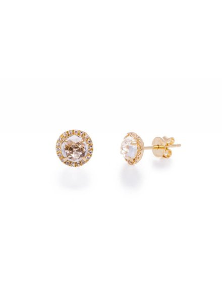 ef collection diamond white topaz stud