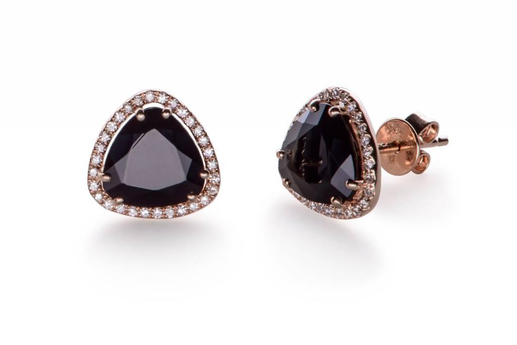 ef collection diamond onyx slice stud