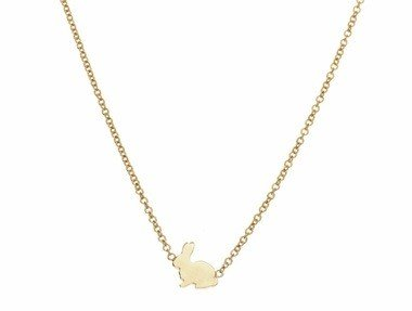 ariel gordon bunny shaped menagerie necklace