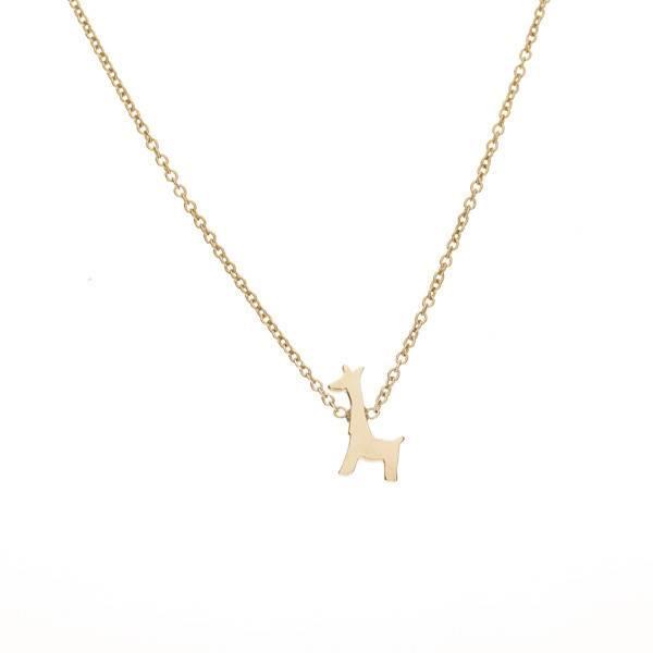 ariel gordon giraffe shaped menagerie necklace