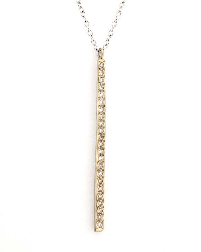 satomi kawakita jewelry long diamond pavè bar charm