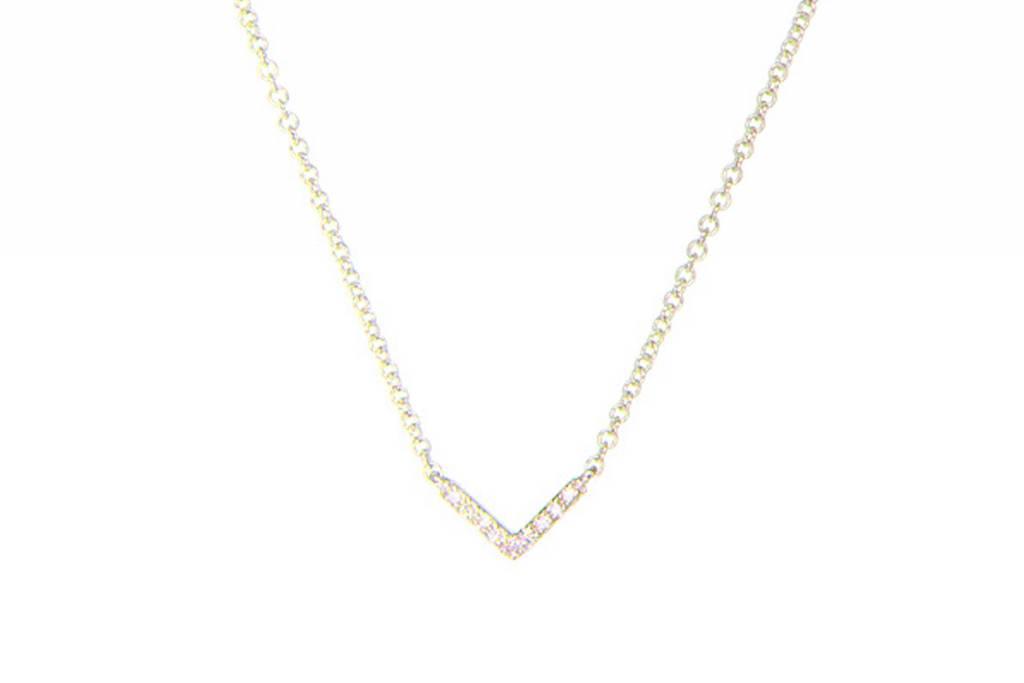 ef collection diamond mini chevron necklace