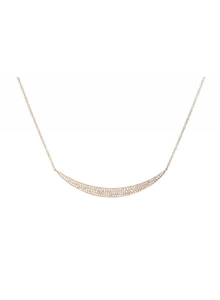 ef collection diamond jumbo crescent necklace