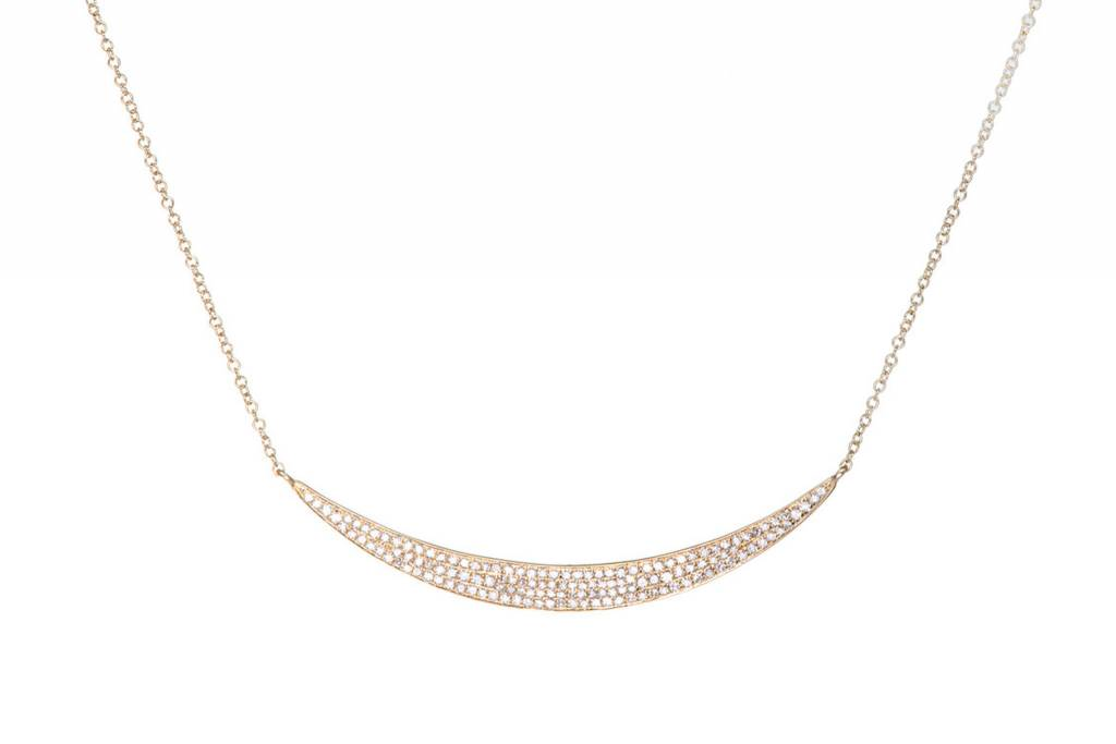 ef collection diamond jumbo crescent necklace