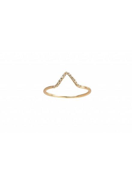 wwake micropavè diamond triangle ring