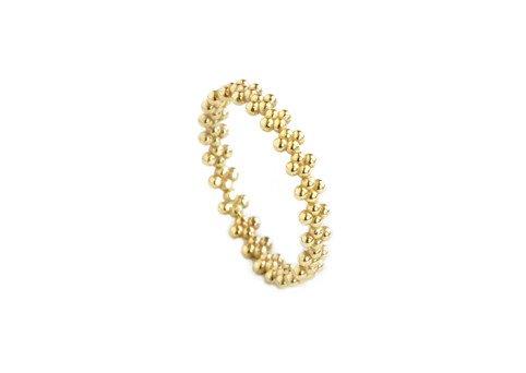 grace lee designs beaded crown ring
