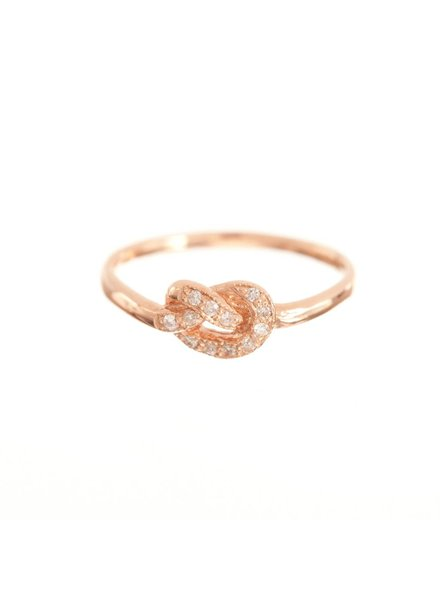 ariel gordon pavè diamond love knot ring