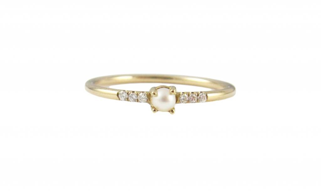 jennie kwon designs white equilibrium pearl ring