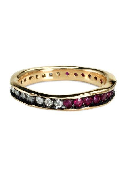 satomi kawakita jewelry diamond and ruby split eternity band