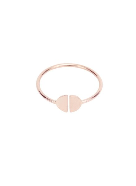 hortense baby girl half moon ring