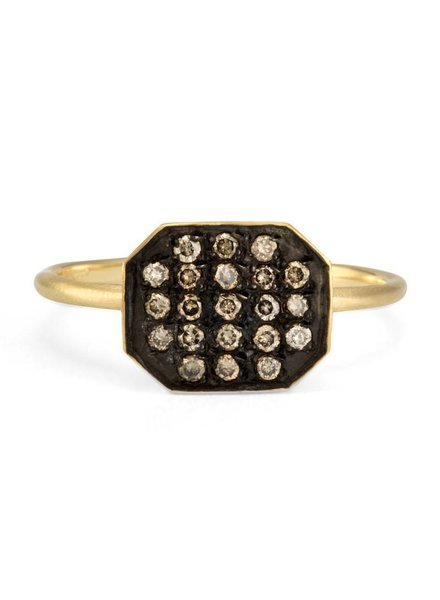 satomi kawakita jewelry large octagon champagne diamond ring