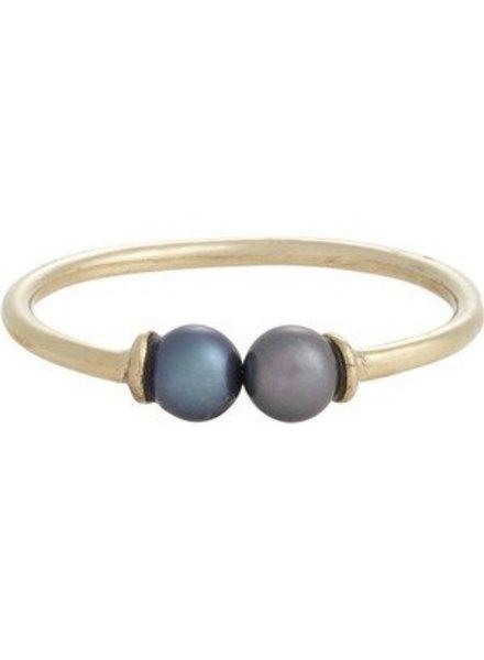 loren stewart double pearl ring