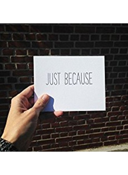 "tiny bones press ""just because"" card"