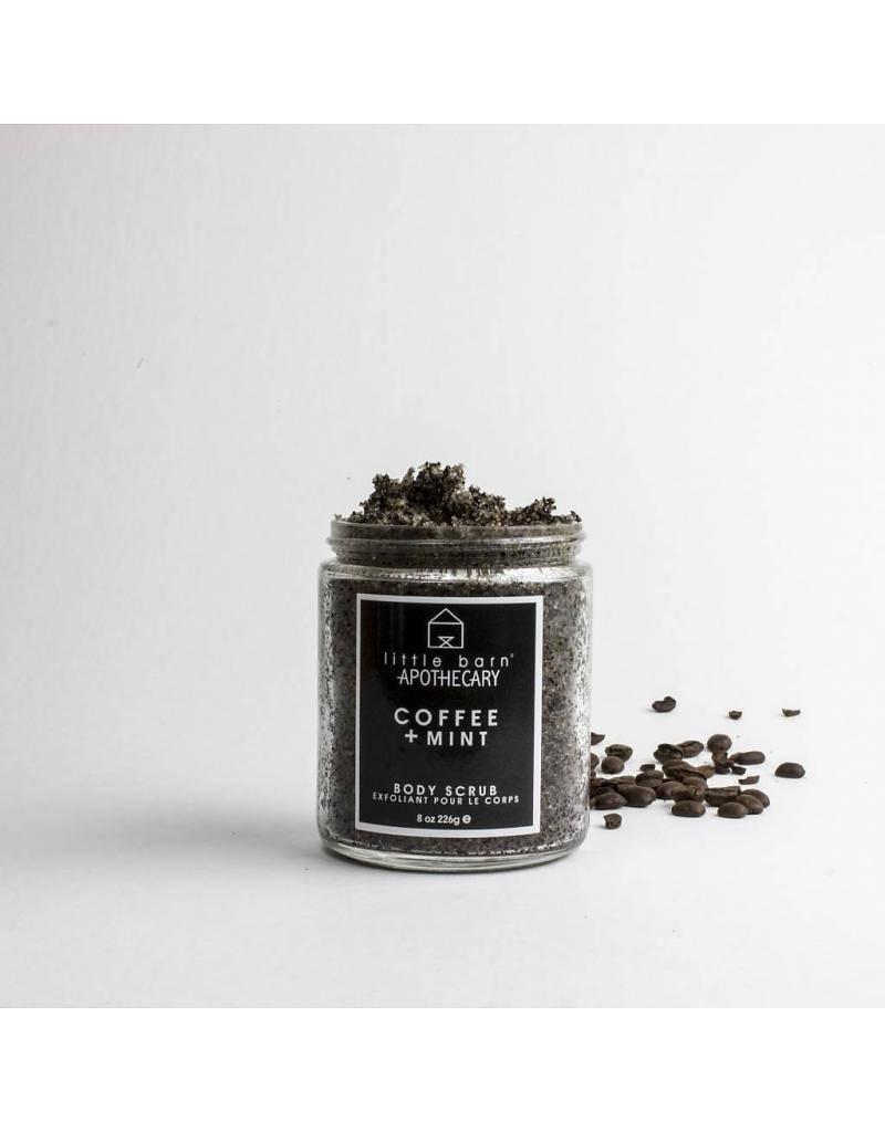 little barn apothecary body scrub coffee + mint
