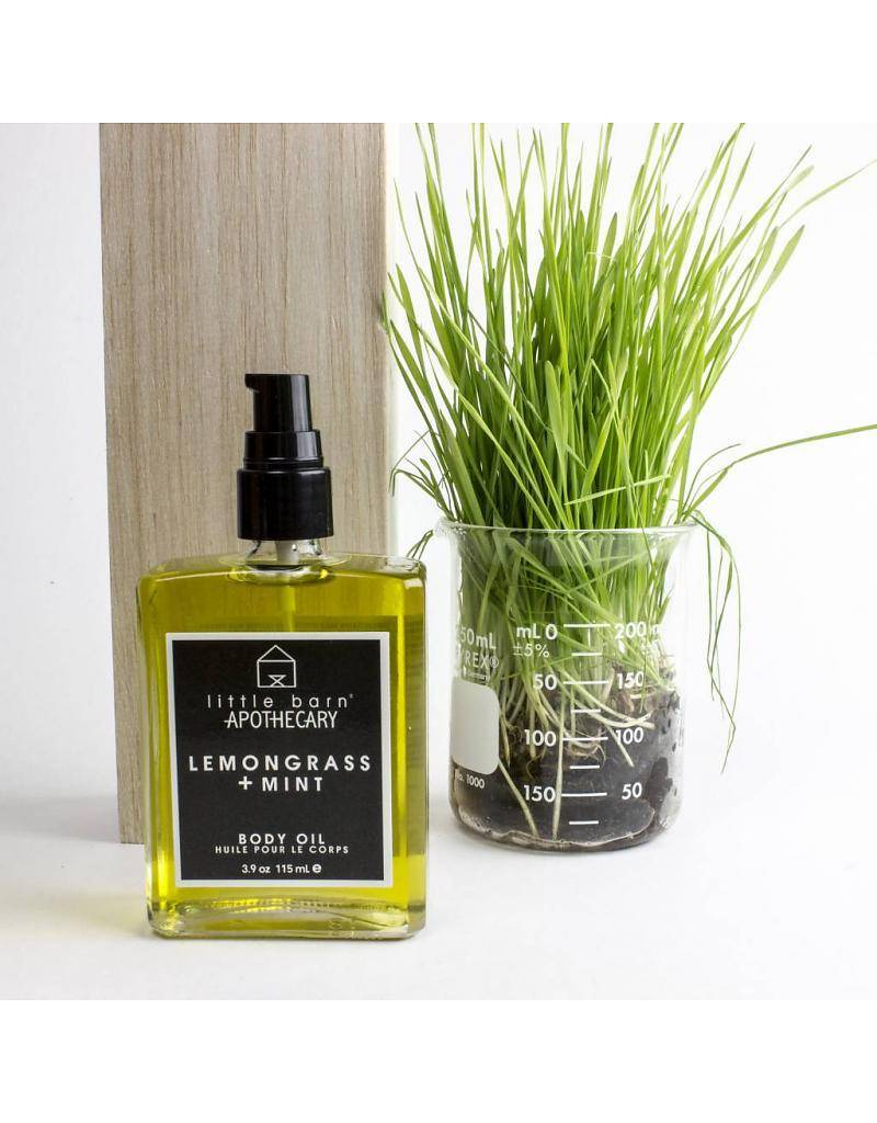 little barn apothecary body oil honeysuckle + grapefruit