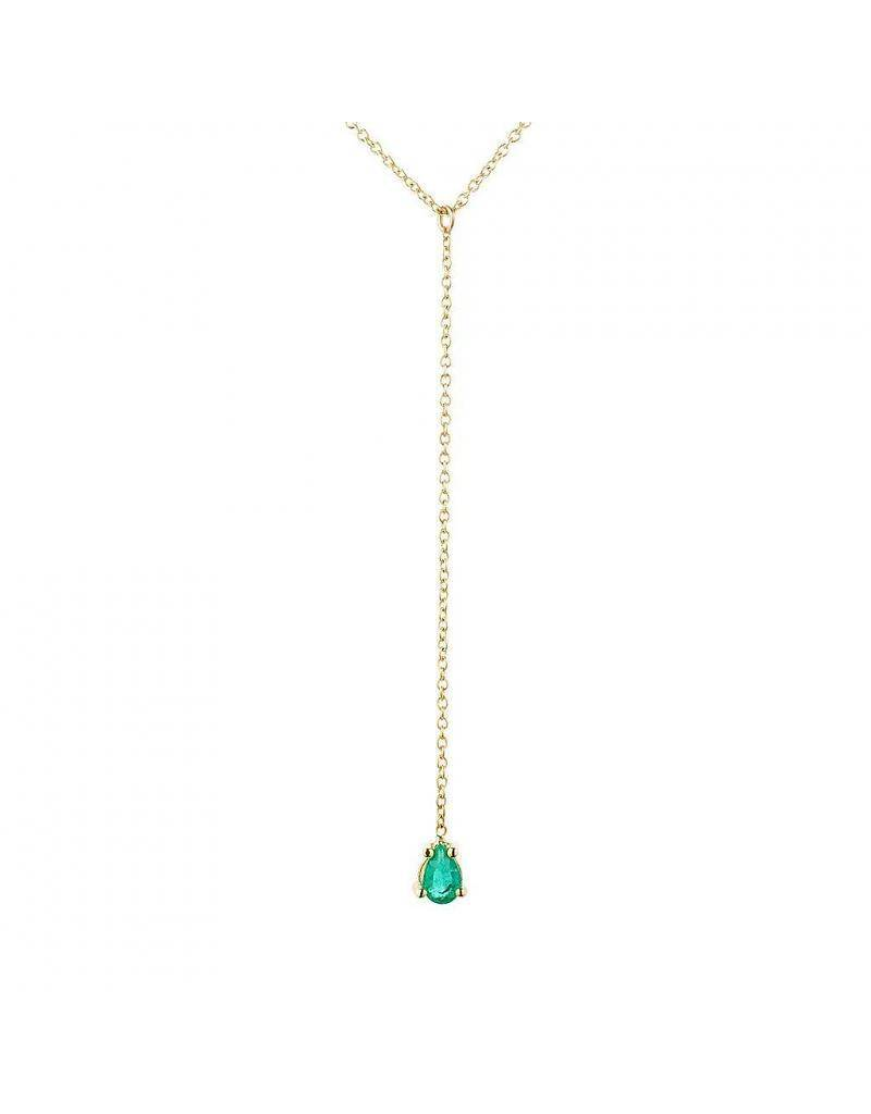 aili jewelry pear shape emerald lariat