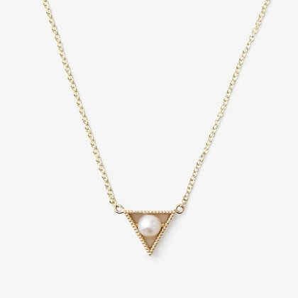 grace lee designs triangle pearl necklace
