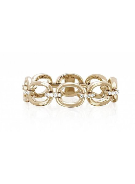 ef collection partial diamond chain link ring