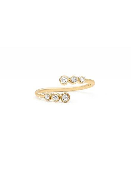ef collection multi bezel diamond twist ring