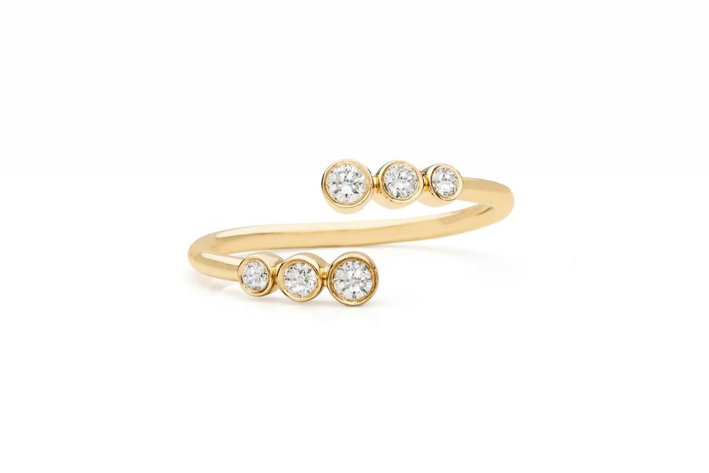 ef collection multi bezel diamond twist ring