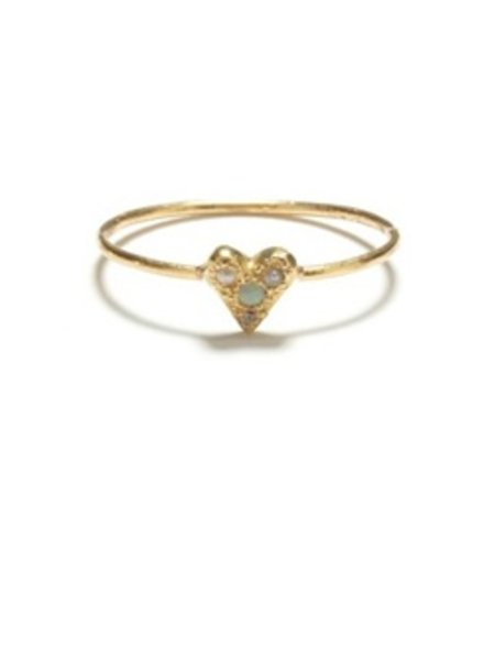 elisa solomon gold puff heart ring