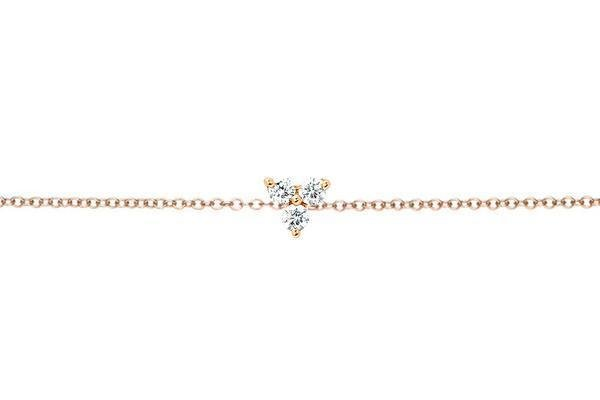 ef collection diamond trio chain bracelet