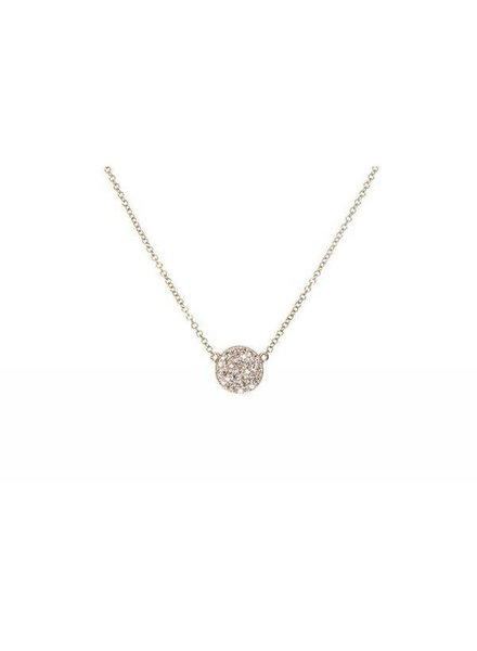 ef collection diamond mini disc necklace