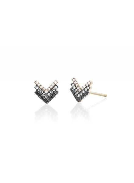 ef collection diamond fade shield earrings