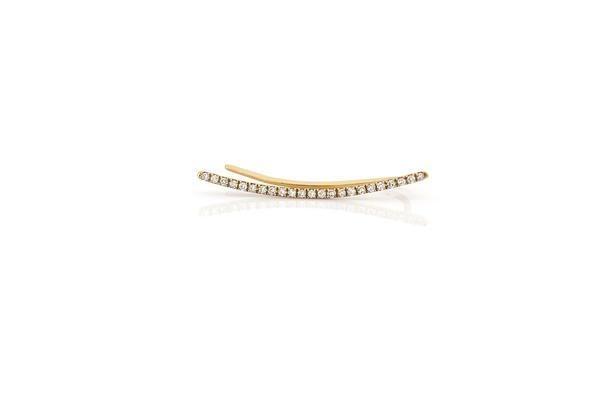 ef collection diamond curved bar ear cuff (single)